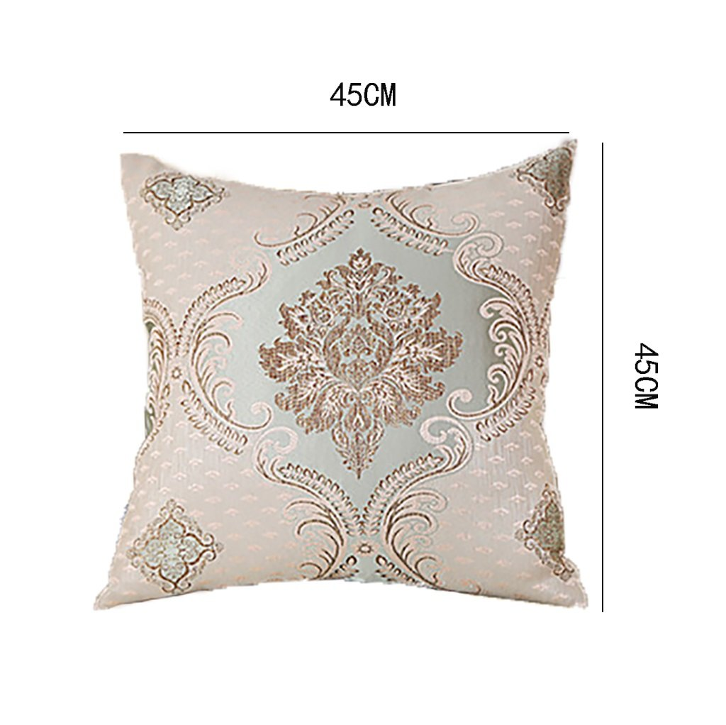 qjs qjs qjs sofá de almohada europeo rectangular porte-coussin Jacquard Grueso Más grueso y limpia, Café couleur, 45  45cm 6e2107