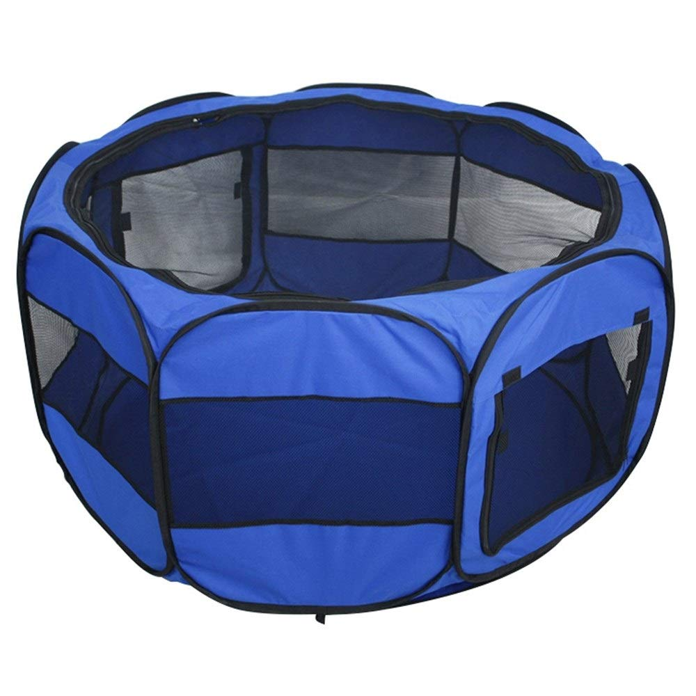 Pet Dog Playpen Portable Foldable Exercise Pen Kennel With Carry Bag For Puppy Cats Kittens Rabbits Indoor Outdoor Use Shade Cover,45x 45 x 23 inch