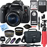 Canon EOS Rebel T6i Digital SLR Camera Wifi + EF-S 18-55mm IS STM Lens Kit + Accessory Bundle 64GB SDXC Memory + DSLR Photo Bag + Wide Angle Lens + 2x Telephoto Lens + Flash + Remote + Tripod & More Noticeable Review Image