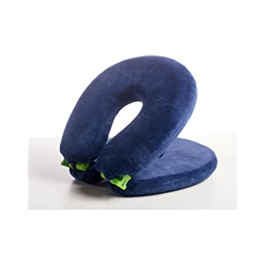 FaceCradle Adjustable Travel Pillow. Full Sleep while you Travel on an Airplane, Train or Bus. Support Your Neck While You Travel and Sleep. Neck Pillow Comfortably Holds Your Head Up. (Royal Blue)