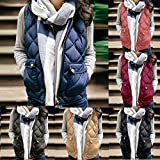 Sunmoot Women's Vests - Padded Lightweight Vest for Women, Stand Collar Quilted Gilet with Zip Pockets