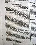 SIOUX INDIANS Native Americans Treaty Signed at