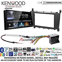 Volunteer Audio Kenwood DDX9704S Double Din Radio Install Kit with Apple Carplay Android Auto Fits 2005-2007 Mercedes C Series