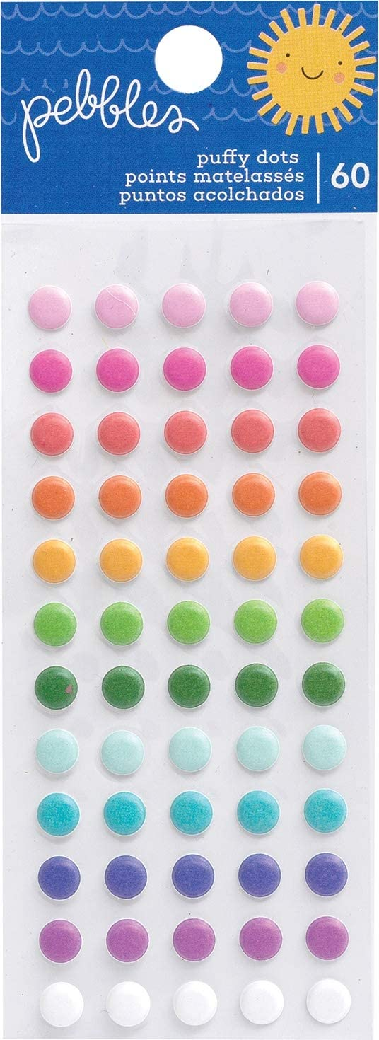 One Size Pebbles Sun /& Fun Stickers Puffy DOTS