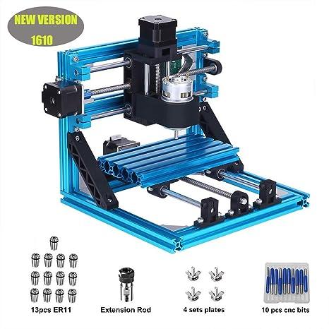MYSWEETY 1610 GRBL Control DIY Máquina de grabado CNC + 1 Set ER11, talla de