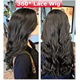 7A 360 Lace Frontal Wigs Short Body Wave Glueless Full Lace Human Hair Wigs For Black Women Brazilian Remy Virgin Hair Swiss Lace Front With Baby Hair (12'' Long,Natural Black #1B, 130% Density)