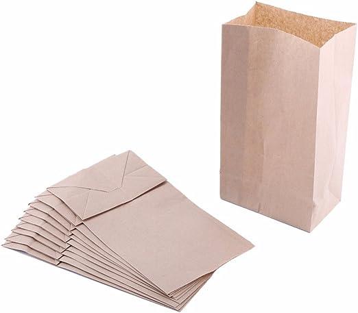 Amazon.com: Bolsas de papel marrón extra pequeñas de 3 x 2 x ...