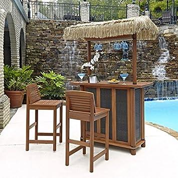 Bali Hai Tiki Bar y dos taburetes por casa estilos: Amazon.es: Jardín