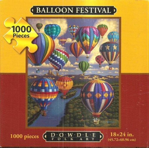 Dowdle Folk Art 1000 Piece Puzzle Balloon Festival 18