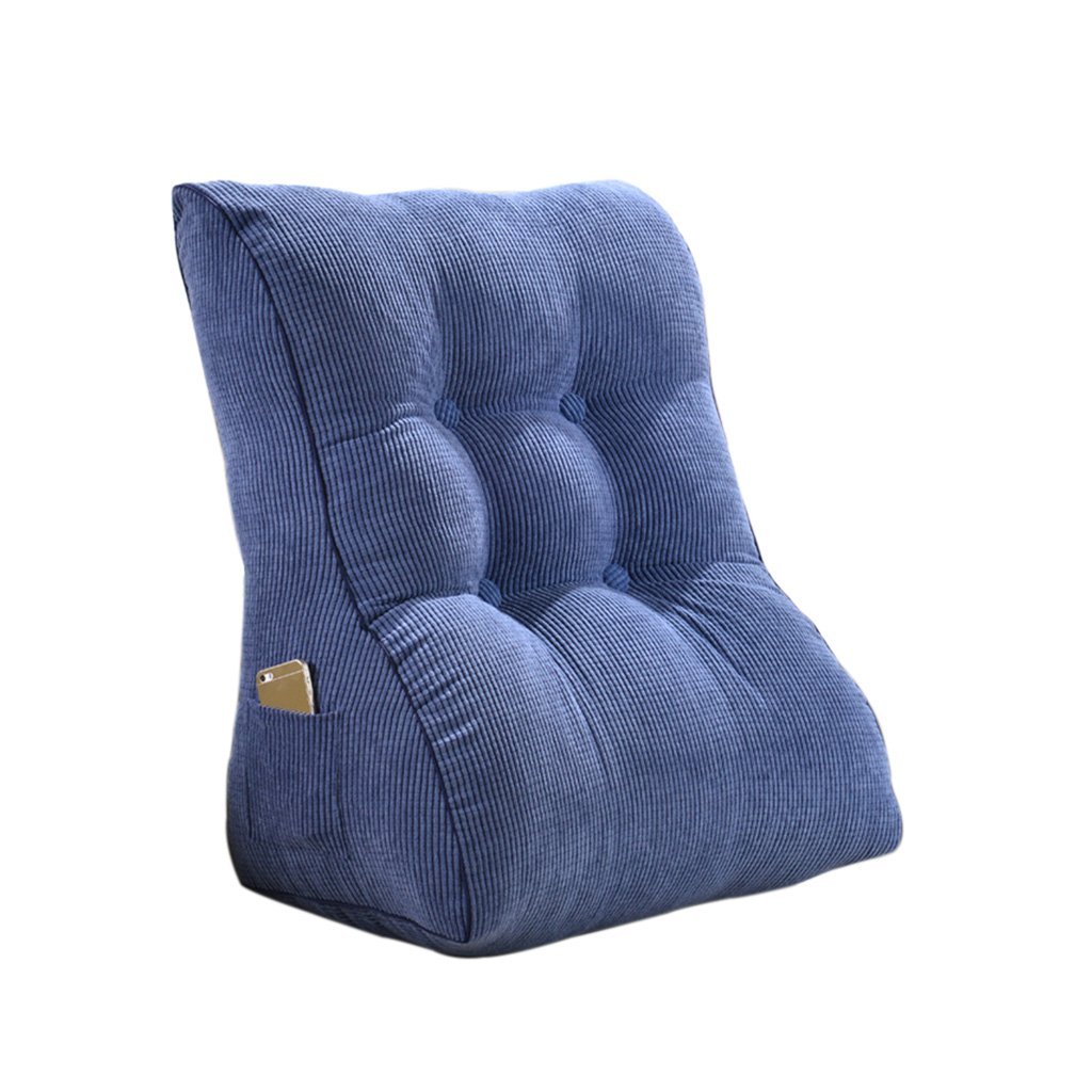 TIANTA-Cushion Back Wedge Cushion for Sofa Bed Office Chair Rest Cushion Back Support Throw Pillow ( Size : 5560cm )