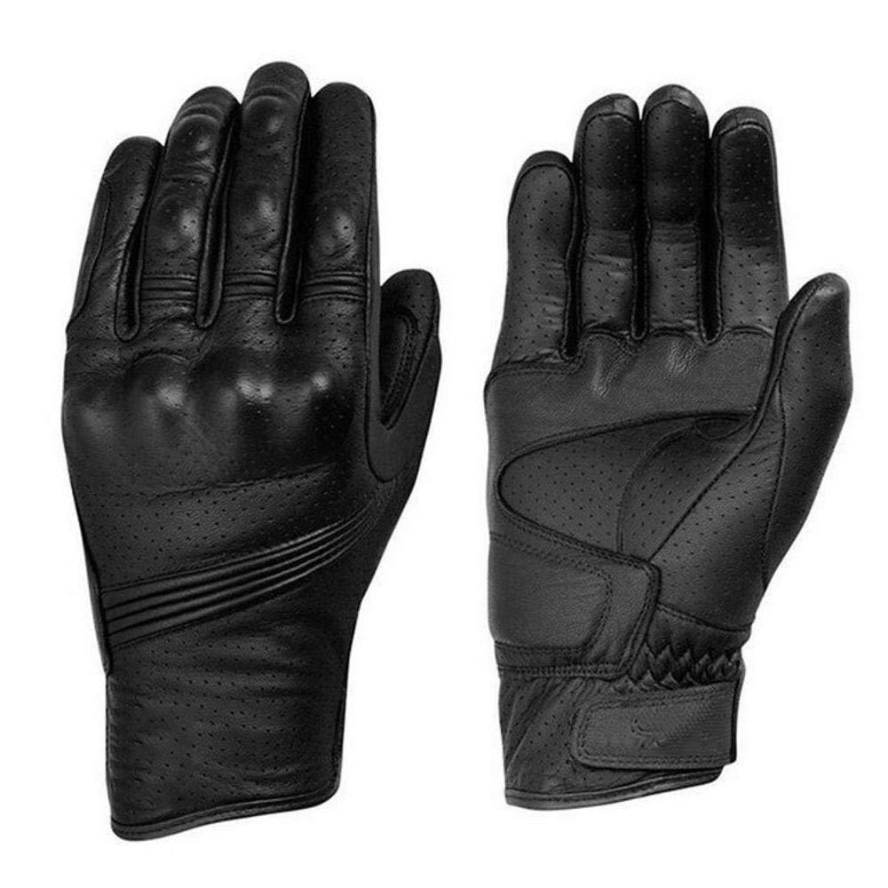 Kaxima Handschuh Outdoor-Sport-Mode-Moto Racing perforiert atmungsaktives Lederhandschuhe