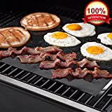 """KOLPCTT Calidad Premium no-stick Baking Mat & Cookie Hoja–Teflón parrilla para barbacoa hoja/Mat, Negro (15.7"""" x 13"""")"""