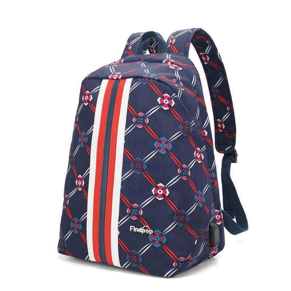 SLH Blue Purple Kaleidoscope Print Backpack Nylon Backpack Casual Bag
