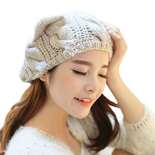 Polytree Women s Knit Cat Ears Beanie (Beige) at Amazon Women s ... 3a2b52ed451d