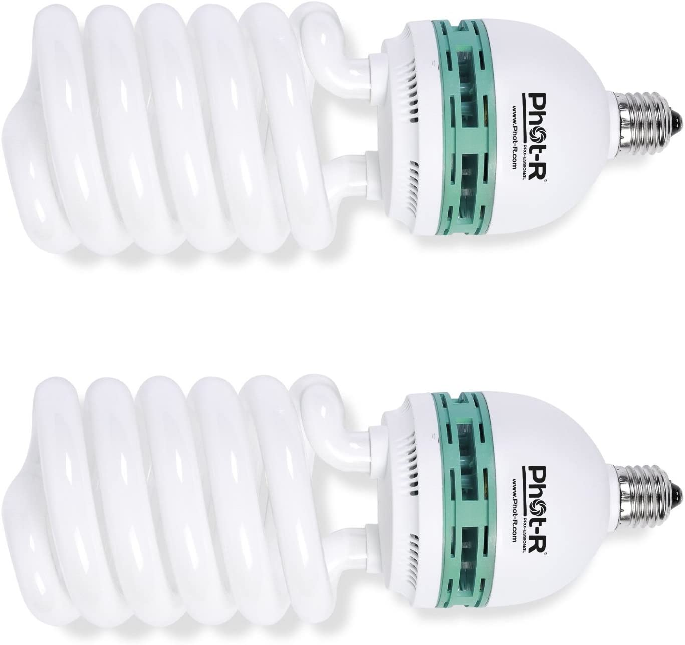 125w EQ 5500K E27 25w Photo Studio Daylight Spiral Light Bulb Lamp 240v 2 PACK