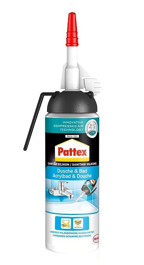 Dispensador de silicona Pattex para baño y ducha, fácil de usar, sin cartucho,