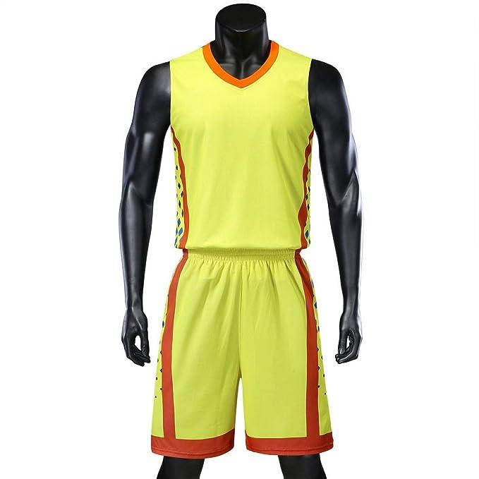 ac491e466 Men Basketball Jerseys Sets Team Uniforms Sports Kit Shirts Shorts  Breathable at Amazon Men s Clothing store