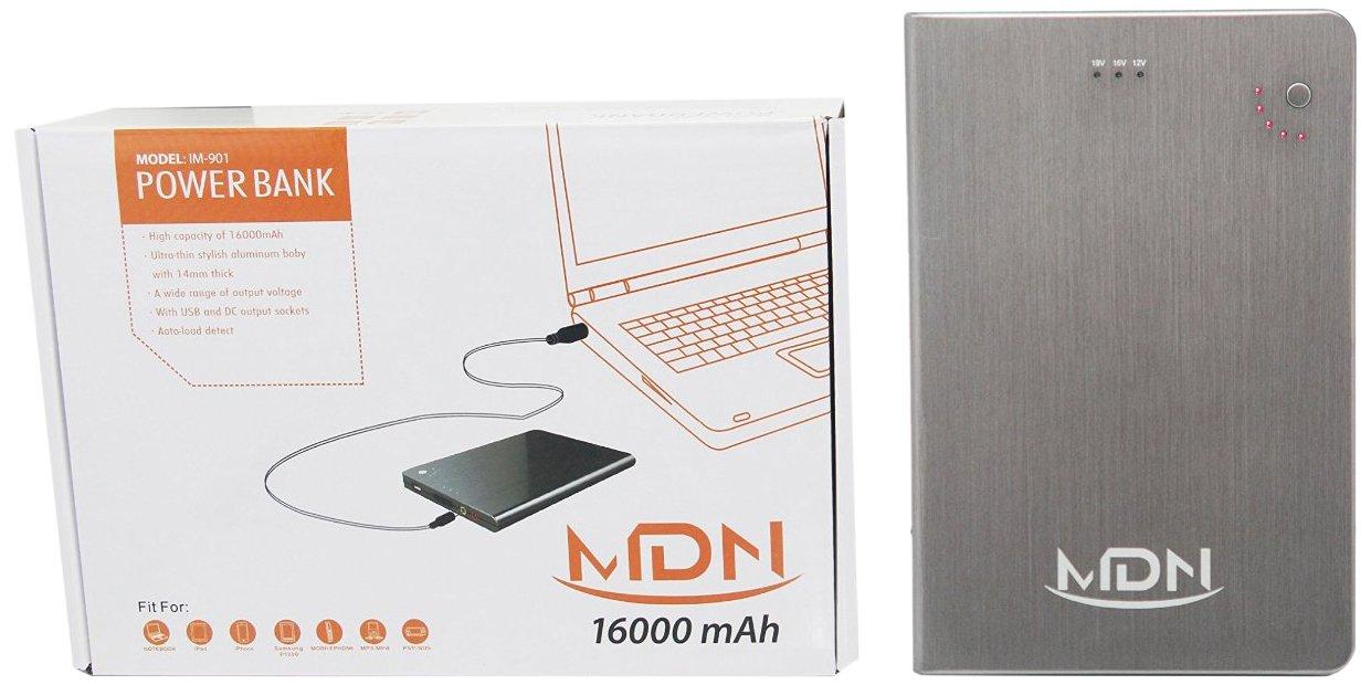 MDNA IM901 MultiJuicer Multi-Voltage (5V 12V 16V 19V) External Battery Charger