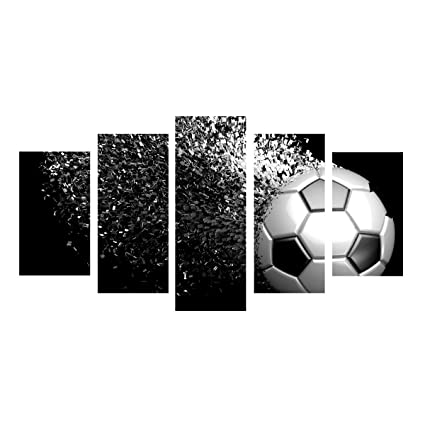 Amazon.com: Waterproof Canvas Painting Wall Art Soccer Football ...