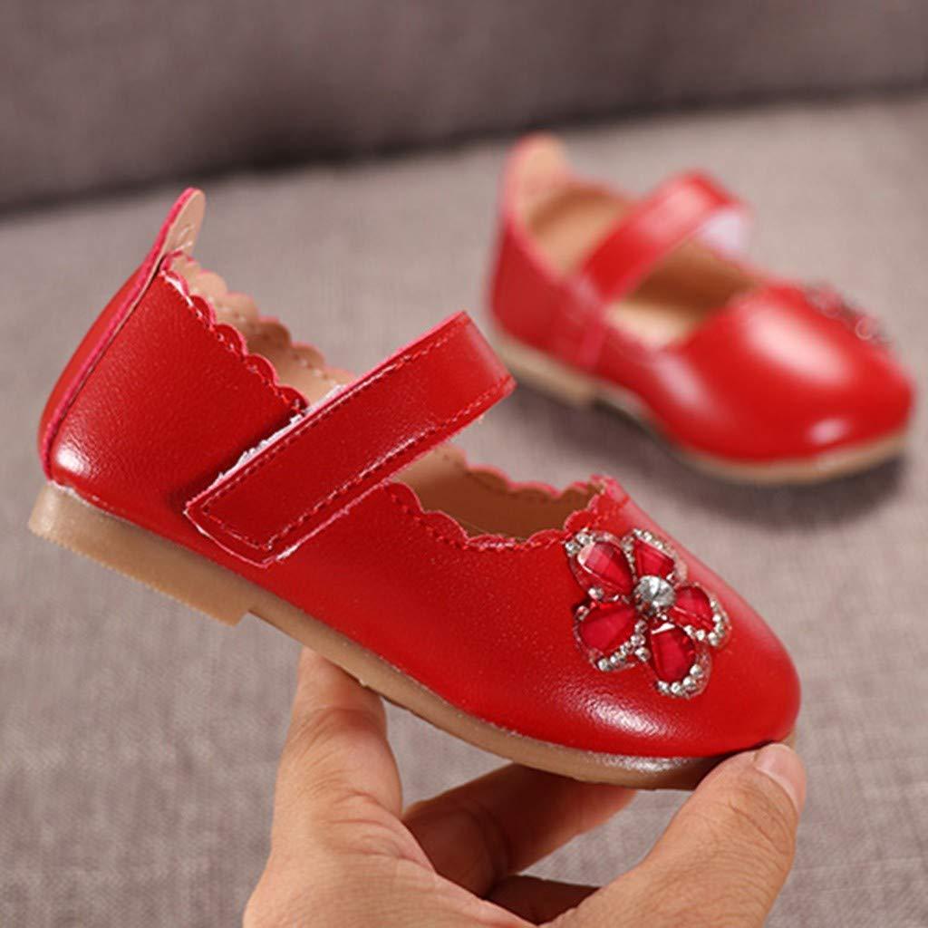 Zapatos Bebe ni/ña Primeros Pasos ✿ Zolimx Flor de Ni/ños Teji/ó Parte Inferior Suave Zapatos Peque/ños Guisantes Zapatos Solos Zapatos Casuales