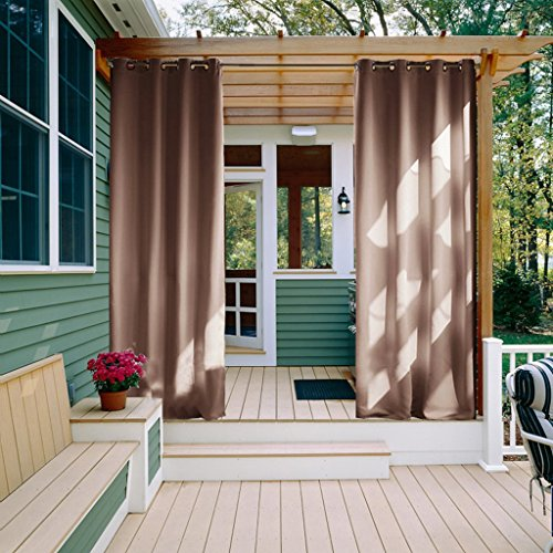 Outdoor Curtains Panels For Patio   Nicetown Grommet Top Thermal Insulated  Blackout Outdoor Curtains / Drapes For Patio / Front Porch (52 Inch Wide By  108 ...