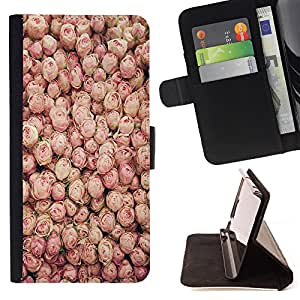 - Rose Pink Flower Romantic Love Heart - - Style PU Leather Case Wallet Flip Stand Flap Closure Cover FOR Samsung Galaxy S5 Mini, SM-G800 - Devil Case -