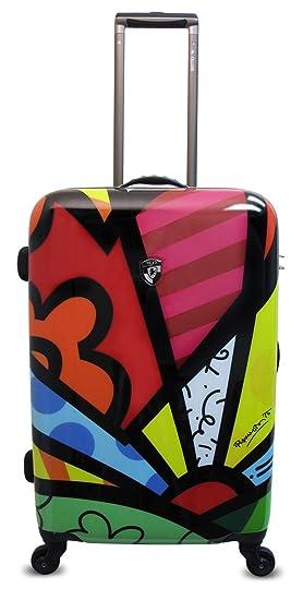 Equipaje, Maletas y Bolsas de Viaje - Premium Designer Maleta Rígida - Heys Artista Britto A New Day Trolley con 4 Ruedas Media: Amazon.es: Equipaje