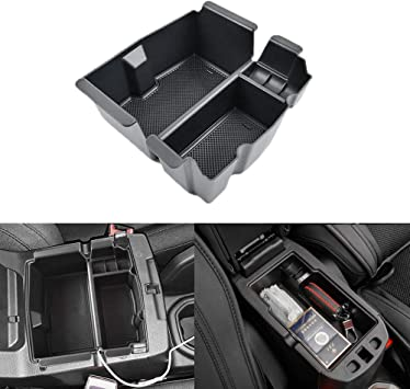 TTCR-II Centre Console Organizer Tray for Jeep Wrangler JL//JLU 2018//2019//2020 and Jeep Gladiator 2020 Console Armrest Storage Box Tray with Coin Container