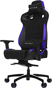 Vertagear Gaming Racing Seat Home Office Computer Coffee Fiber High Back Executive Chairs, Black/Purple