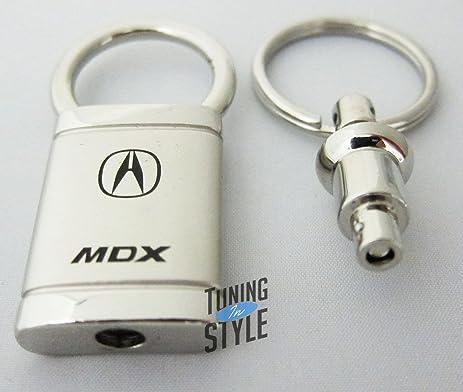 Amazoncom Acura MDX Satin Chrome Valet Keychain Automotive - Acura keychain