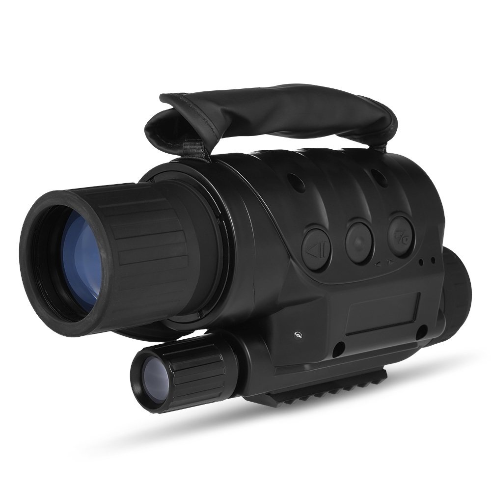 Lixada 8x60 Digital Night Vision Monocular Telescope Infrared Device Photo Video Recorder for Camping Hiking Travel Hunting