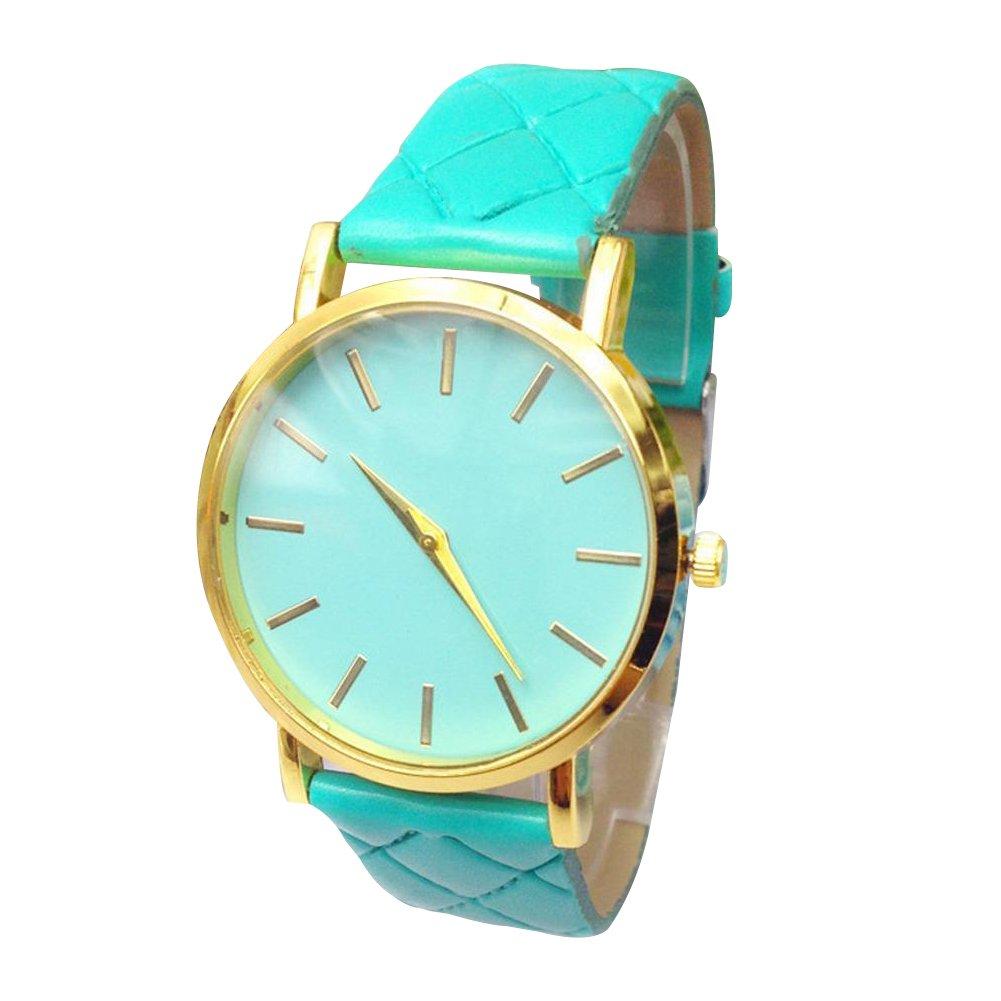 8b1342ffe Hot sales watch women Checkers Faux lady dress watch, women's Casual  Leather quartz-watch Analog women's wrist watch gifts: Amazon.co.uk: Watches