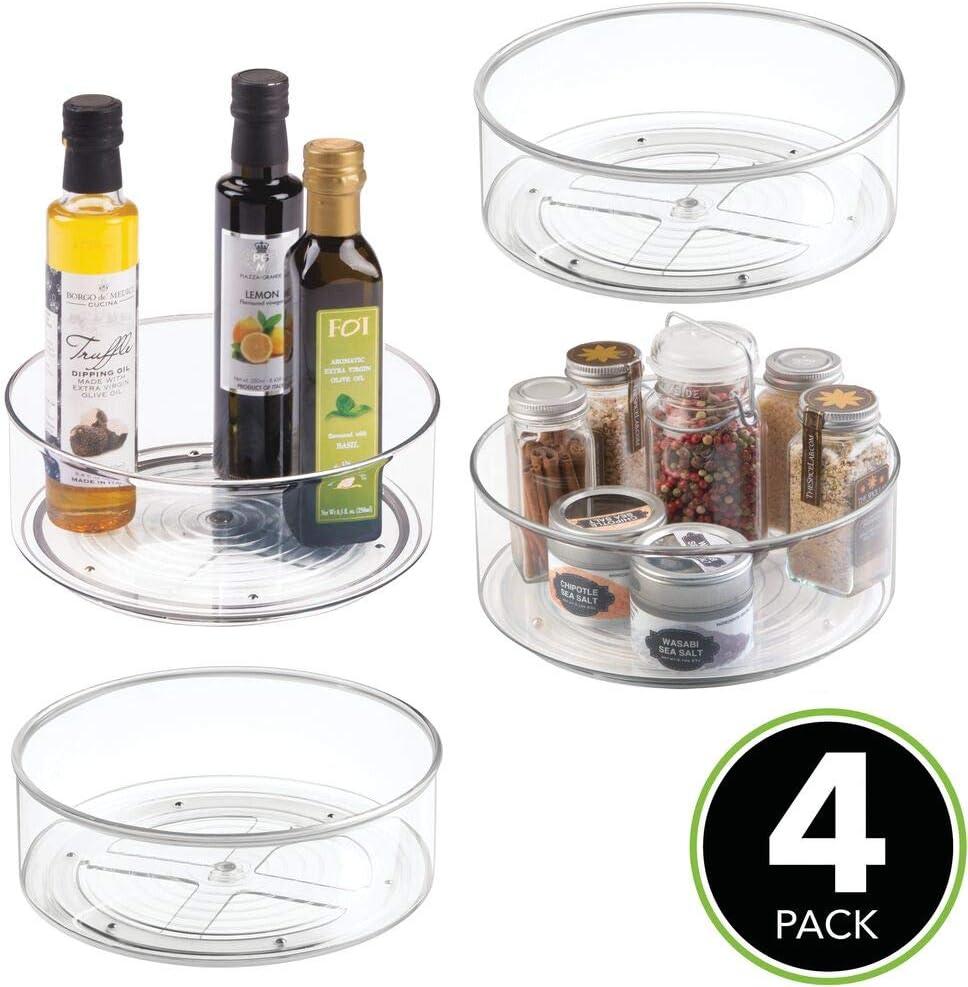 Soporte para Especias Giratorio para neveras o Muebles de Cocina MetroDecor mDesign Organizador Giratorio Lazy Susan Gris Oscuro Pr/ácticos Platos giratorios con 5 Compartimentos