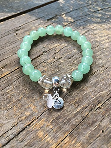 Heart Chakra Bracelet | Green Aventurine, Crystal Quartz Stone, Love | Protection | Happiness