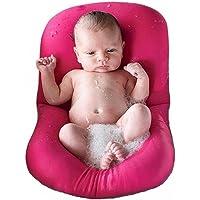 Tapis de bain pour nourrisson bébé, 4EVERHOPE flottant coussin de bain pour nourrisson/chaise longue nouveau-né