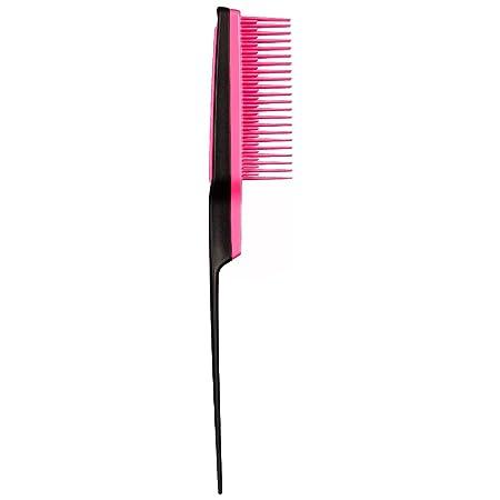 Tangle Teezer Back Combing Hairbrush, Black/Pink