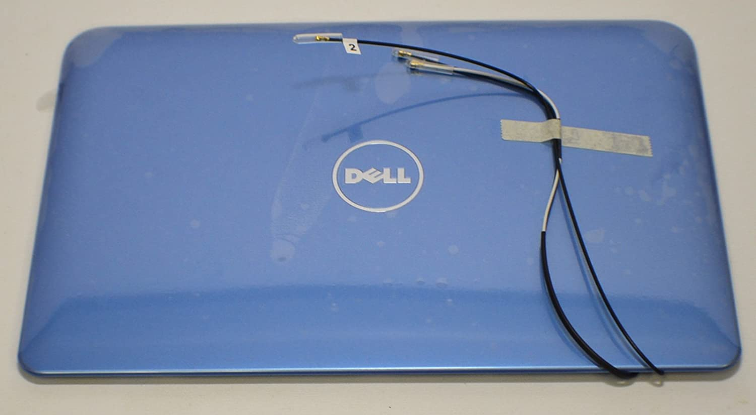 Dell New Inspiron Mini 10 1012 LCD Screen Top Lid Rear Back Cover Monitor Panel Blue CDWMV WWAN Antenna Cable Wire Inspirion Insprion Case Enclosure Housing Casing Visual Display 10.1