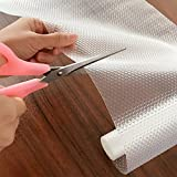 Icarekit EVA transparent Non-Adhesive Cupboard Cabinet Shelf Drawer Liner Non-Slip Mat