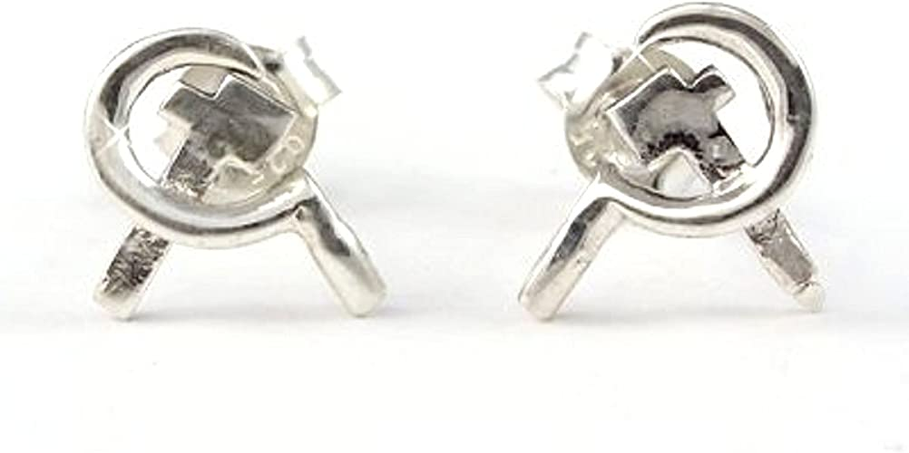 Ohrstecker kleiner Hammer Echt Silber Neu 925-Silber