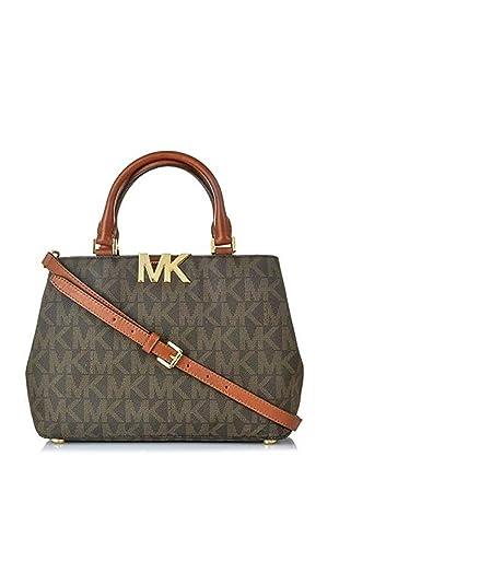 c5db44ea89a1 ... france michael kors mk florence pvc md satchel brown style 35f5gres2b  c9cdc 443c6 ...