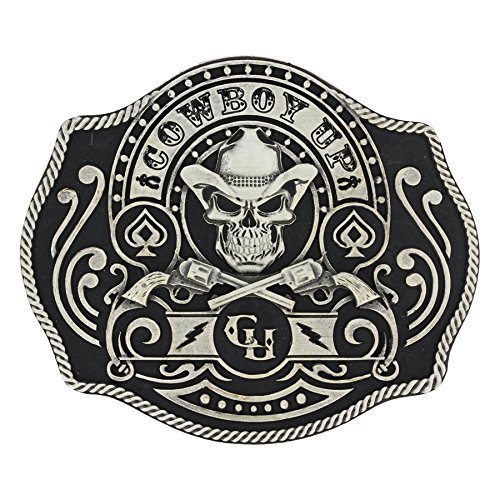 Montana Silversmiths Men's Silver Cowboy Up Belt Buckle Silver One (Montana Silversmiths Belt)