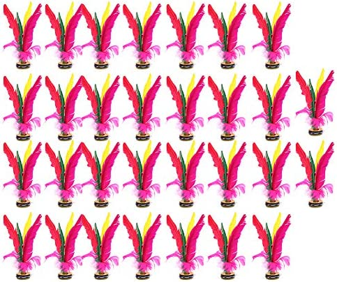 VGEBY Shuttlecock, 30Pcs Kick Shuttlecock Colorful Chinese Jianzi for Foot Sports Outdoor Exercise Game