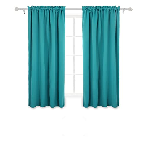 Teal Blackout Curtains Amazon Com