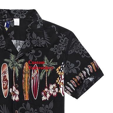 ed452f377 Palm Wave Men's Hawaiian Shirt Aloha Shirt at Amazon Men's Clothing store: