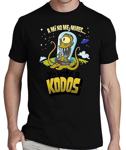 latostadora Camiseta : Yo Voté a Kodos - Camiseta Hombre clásica, Negro Talla S: donrobot: Amazon.es: Ropa y accesorios