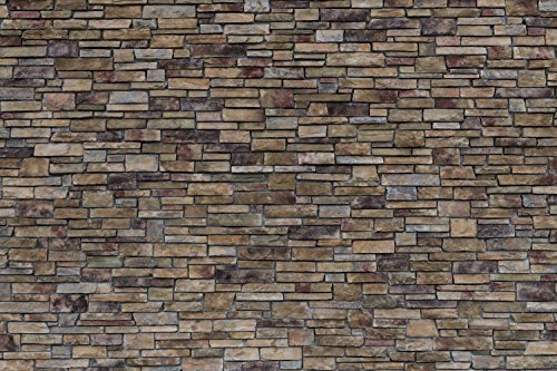 - 12-Feet wide by 8-Feet high.Prepasted robust wallpaper mural from a high res. photo by D. Petelka of:Stacked Stones.Looks real unless you touch!Our murals are easy to install remove and reuse.See video