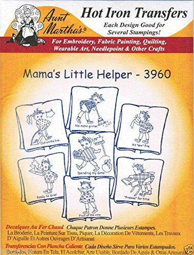 Mama's Little Helper #3960 Aunt Martha's Hot Iron Embroidery Transfer Pattern (Little Helper Iron)