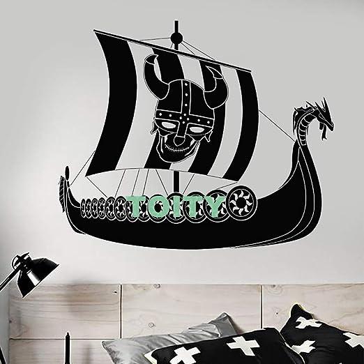 jiushivr Vinilo Tatuajes de Pared Barco Pirata Vikingo Sailor Sail ...
