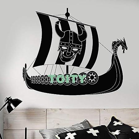 guijiumai Vinilo Tatuajes de Pared Barco Pirata Vikingo Sailor ...