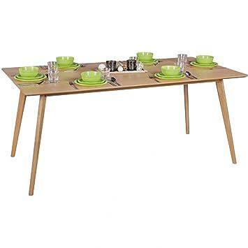 Amazon.de: Esszimmertisch SKARA 180 x 76 x 90 cm MDF Holz ...